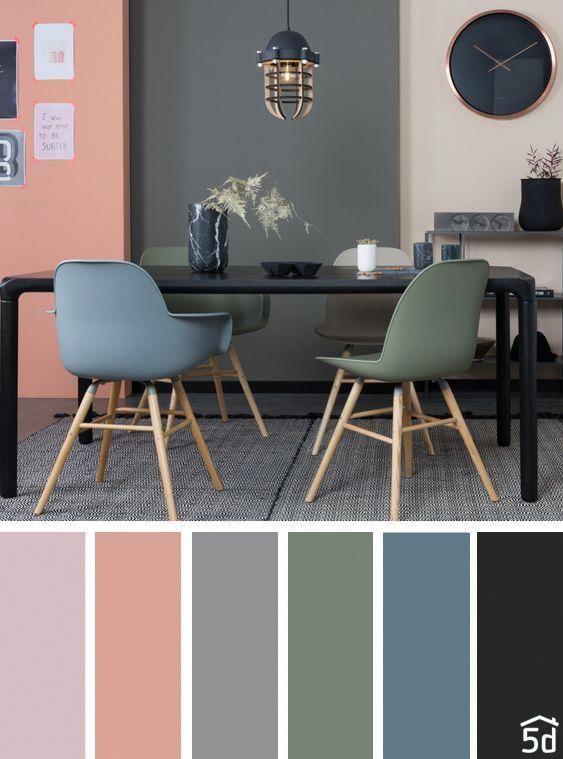 Dining Room Color Palette Interior Design Palette Dining Grey Blue Green Cores Da Sala De Jantar Cor Da Sala De Estar Sala De Estar Decoracao Moderna