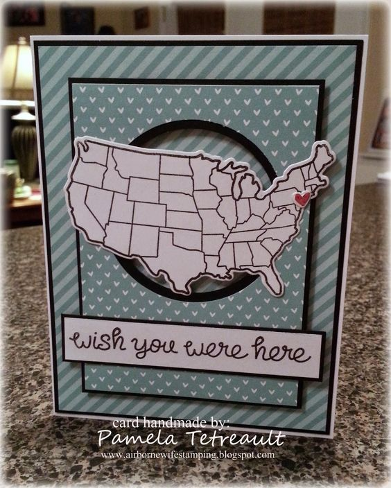 """SSSC220 """"WISH YOU WERE HERE"""" card"""