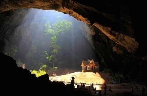 to the Kuha Karuhas Pavilion inside Phraya Nakhon Cave in Khao-Sam-Roi-Yot National Park in Thailand.  There are two white sand beaches located in this park as well!  What a great place to meditate on life.