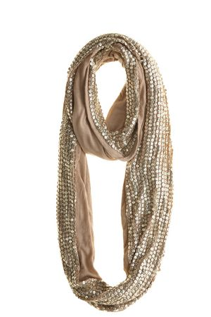 Glittery neutral scarf