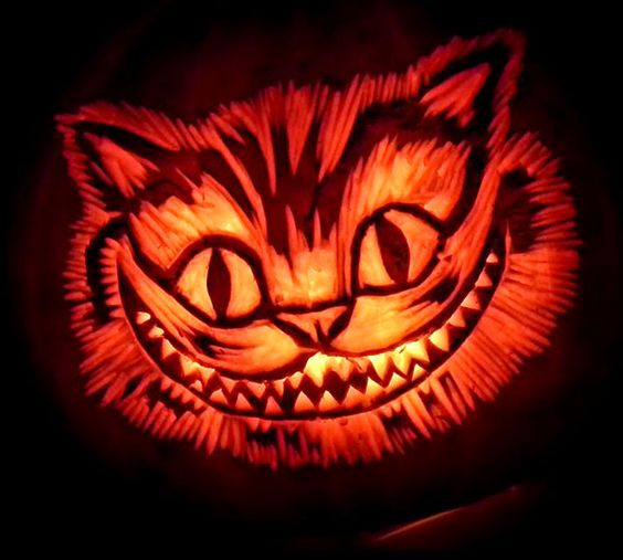 Chesire-Cat-Pumpkin-Carving-Ideas: