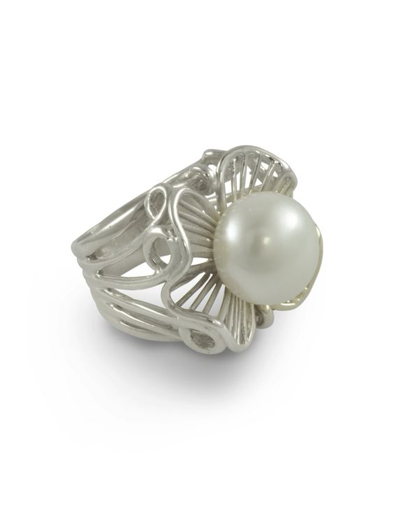 Silver Abanico Ring