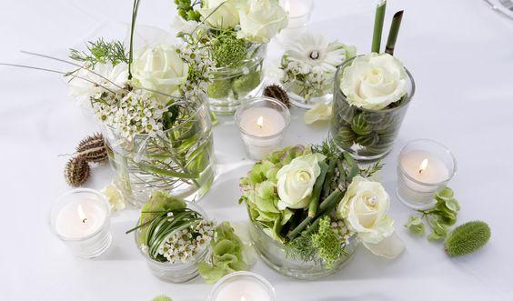 Blumen tischdeko tischdeko pinterest dekoration und for Dekoration hochzeit stuttgart