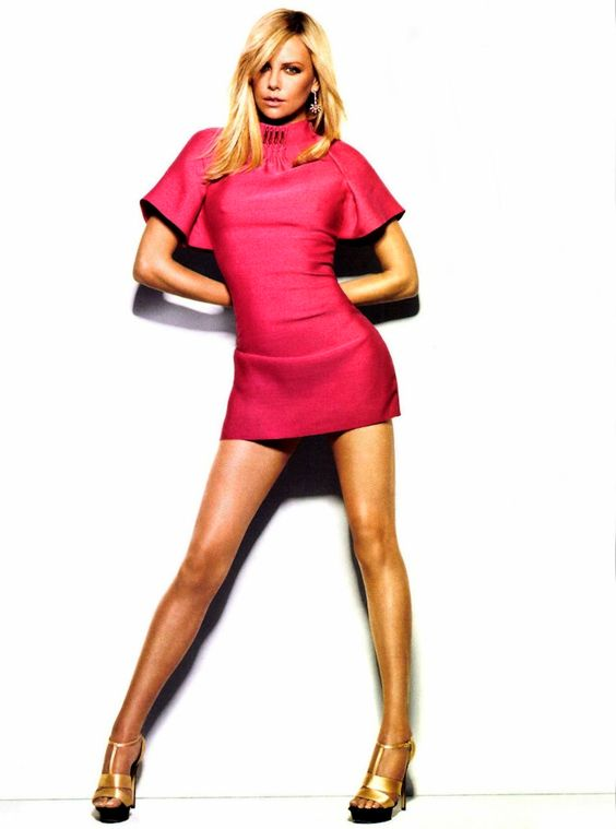 Charlize Theron by Matthias Vriens-McGarth for Glamour France (Dress by Versace)