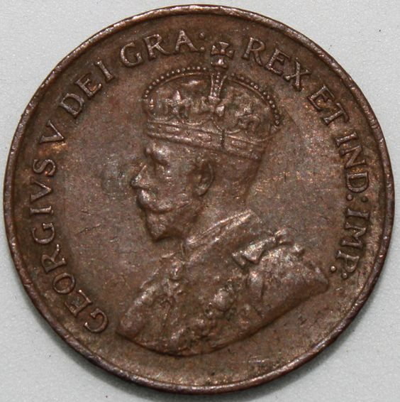 King George V Canada 1932-1 Cent Bronze Coin