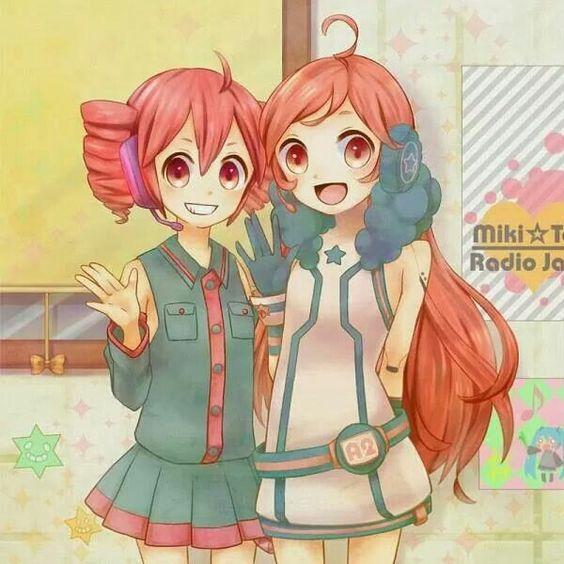Anime girls. Miki and Teto