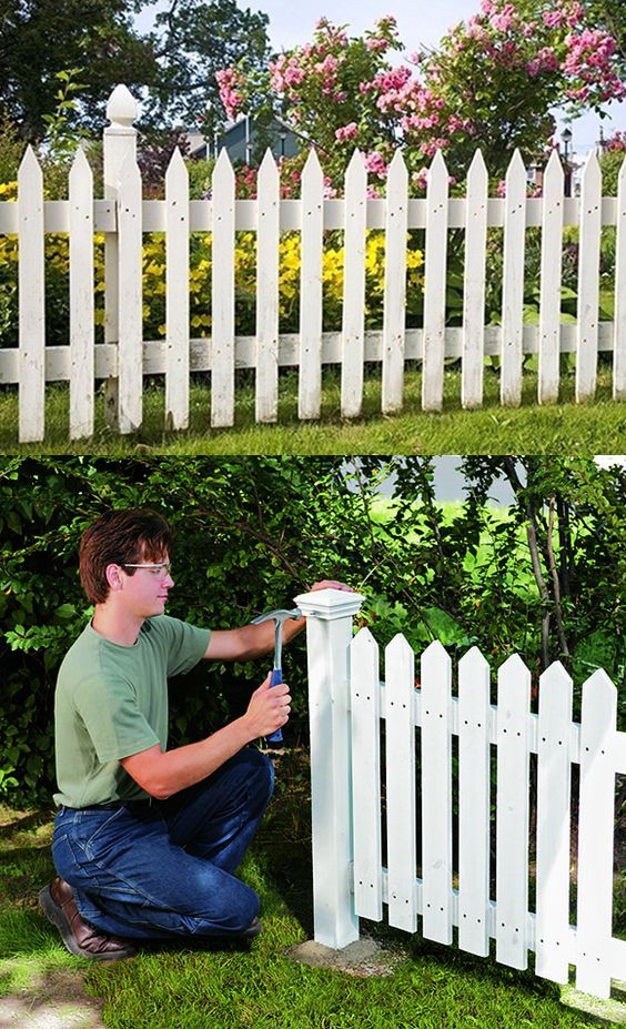 here 39 s how to build a picket fence for your yard step by. Black Bedroom Furniture Sets. Home Design Ideas