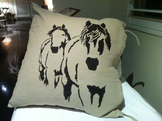 Custom Stenciled pillows