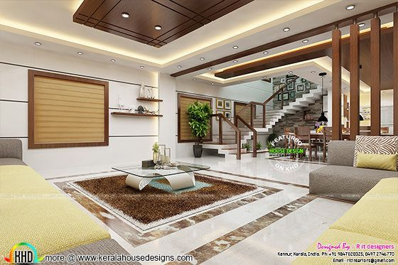 Beautiful Living And Dining Room Interiors Kerala House Design House Beautiful Living Rooms House Styles