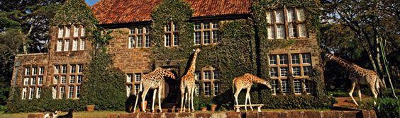 Giraffe Manor, un hotel localizado dentro de una reserva de jirafas Rothschild, una rara raza en extinción