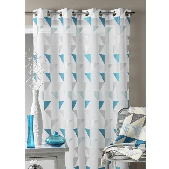 D co int rieur bleu et argent rideau d co scandinave for Decoration interieur fenetre rideau