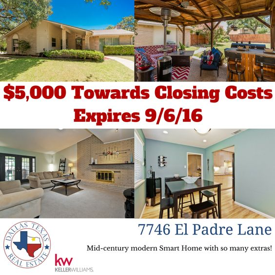 This is the mid-century modern home you have been waiting for!  Own this North Dallas home for a steal.  #dallasrealestate #northdallas