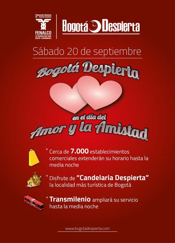 """El sábado 20 de septiembre, se realizará la jornada de Bogotá Despierta """"Día del Amor y la Amistad"""""""
