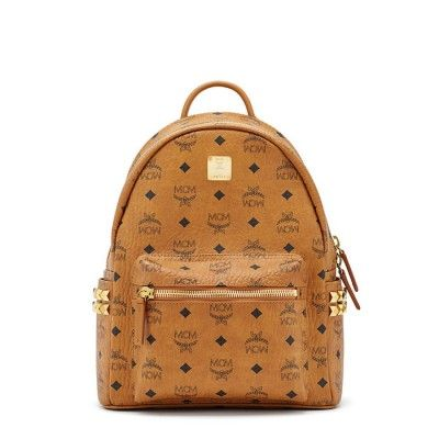 MCM Small Stark Side Odeon Studded Backpack In Brown