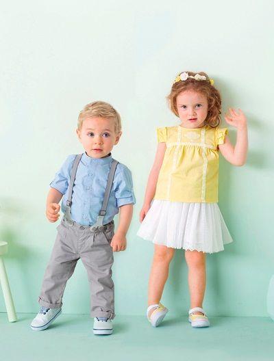 Camiseta bordada bebé niña AMARILLO CLARO LISO