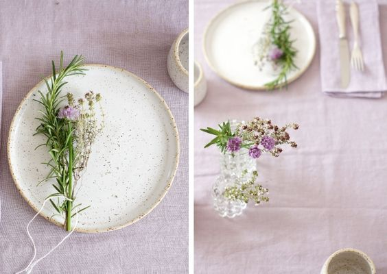 Urban Jungle Bloggers | planty table setting | photo: Sabine Wittig