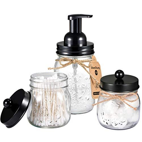 Mason Jar Bathroom Accessories Set Includes Mason Jar Foaming Hand Soap Dispenser And Mason Jar Bathroom Mason Jar Soap Dispenser Foaming Hand Soap Dispenser