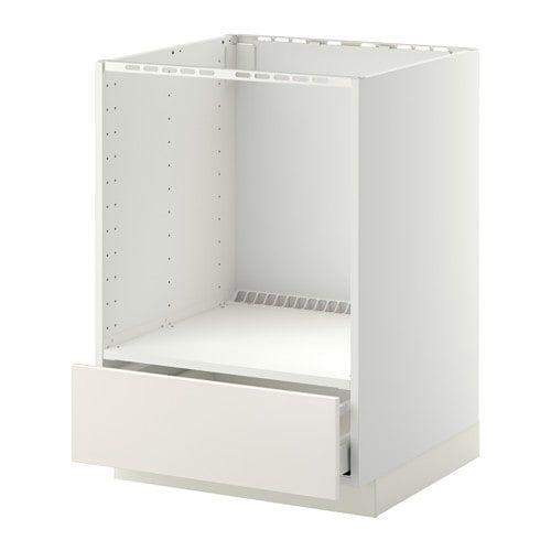 Metod Maximera Element Bas Pour Four Avec Tiroir Blanc Veddinge Blanc 60x60 Cm Ikea Ikea Armoire Cuisine Ikea Four Encastrable Blanc