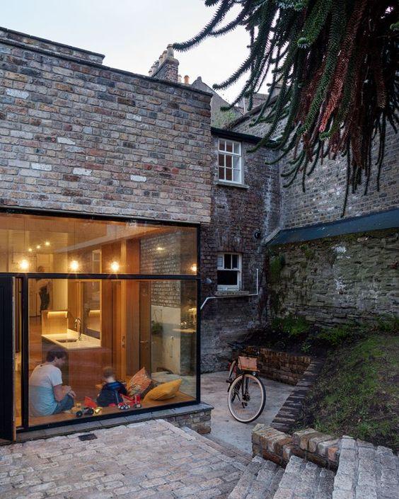 Architecture, Extensions and Briques on Pinterest - Pose Brique De Verre Exterieur