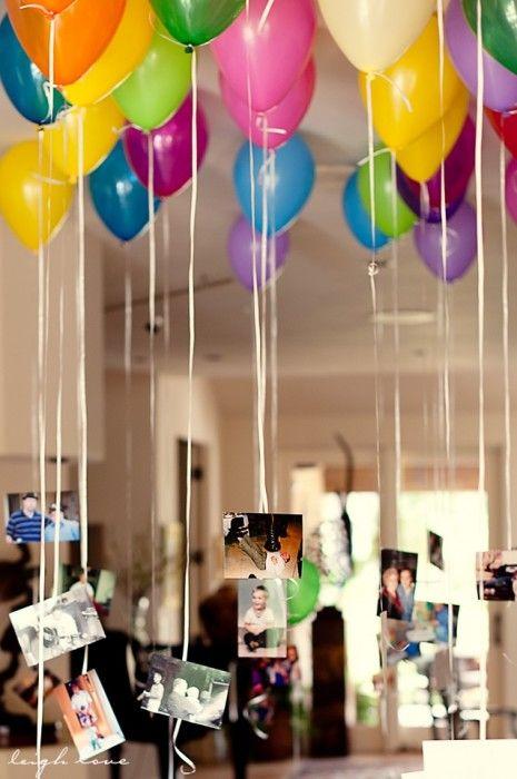 BALLONS ANNIVERSAIRE | Des ballons en suspens dans la maison. De quoi fasciner vos petits cocos!
