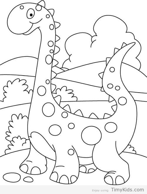 Dinosaur Coloring Pages For Preschool Dinosaur Coloring Pages Preschool Coloring Pages Coloring For Kids