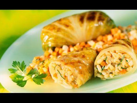 """Guarda """"Ricetta veloce Involtini di verza ripieni di orzo,Quick recipe cabbage rolls stuffed with barley,"""" su YouTube #SAPORIEODORIDICASAMIA"""