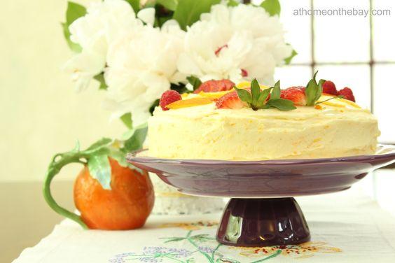 Orange Cake with Orange Butter Frosting