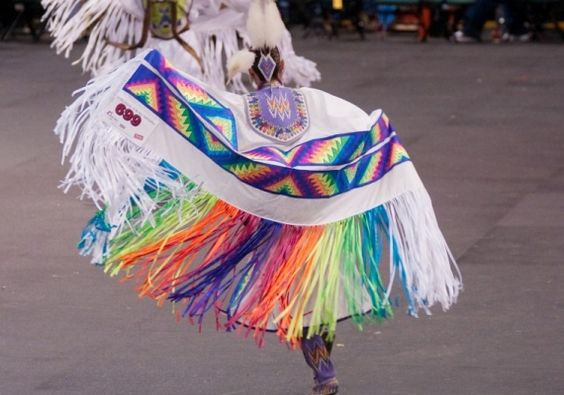 I absolutely loved it when we used to go to the pow wow, and we would see them dance!