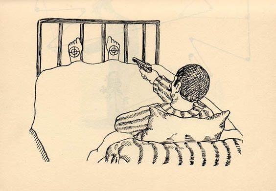 Los Masoquistas: Ilustrando situaciones absurdas