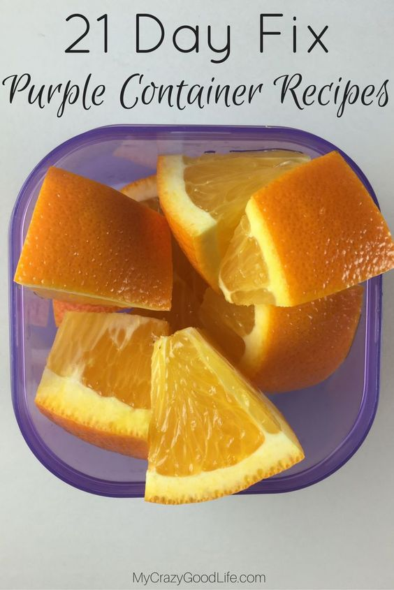 21 Day Fix Purple Container Recipes are great for dessert, to combine with another container for a full meal, or for a great afternoon snack!