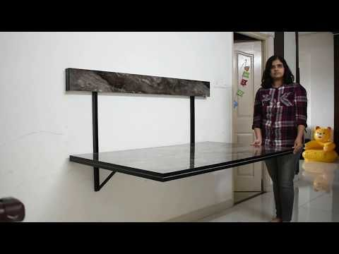 Wall Mounted Dining Table Space Saving Furniture In Bangalore Wallter Systems Youtub In 2020 Wall Mounted Dining Table Space Saving Dining Table Wall Dining Table