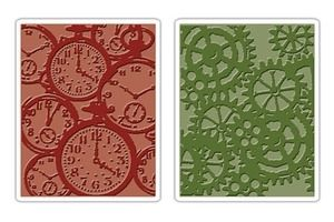 Tim Holtz Sizzix POCKET WATCHES & STEAMPUNK Embossing Folders