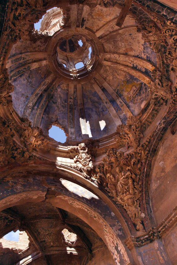 Belchite, Zargoza, Spain  |  Belchite, a destroyed village in the province of Zargoza, is a ghostly reminder of the Spanish Civil War. It remains today as it was at its surrender on September 7,1937.