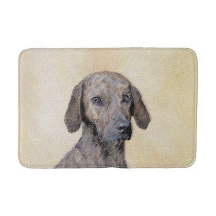 Plott Painting Cute Original Dog Art Bath Mat Dog Art Art