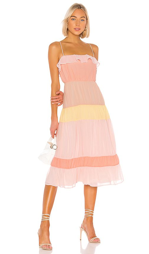 Lovers Friends Acer Midi Dress In Sherbet Revolve Fashion Clothes Women Clothes Dresses