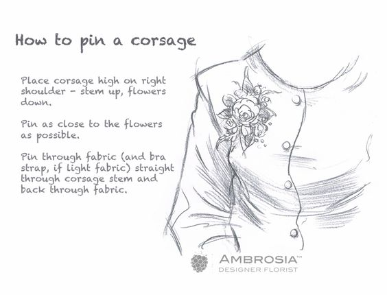 How to pin a corsage