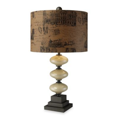 Dimond Lighting Brantley Cream and Matte Grey Table Lamp - BedBathandBeyond.com