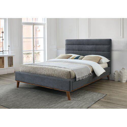 Grange Corner Upholstered Bed Frame Corrigan Studio Size Double