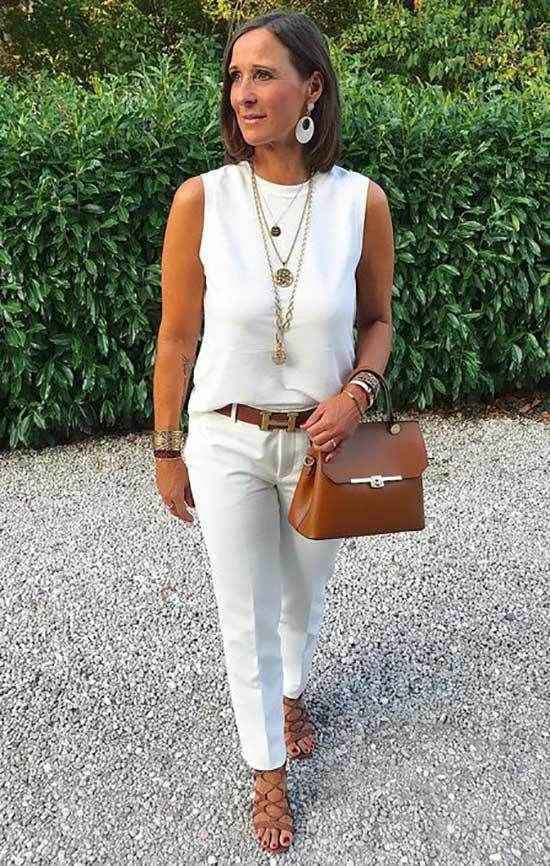 30 Casual Spring And Summer Outfits For 50 Year Old Woman In 2020 Stylish Summer Outfits Summer Outfits Women Over 40 Summer Outfits Women