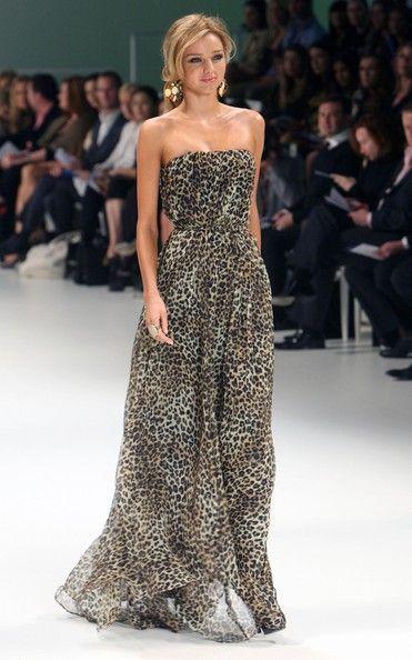 Leopard maxi dress.