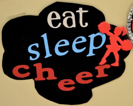 Cheerleading Locker Decoration Eat Sleep Cheer Locker