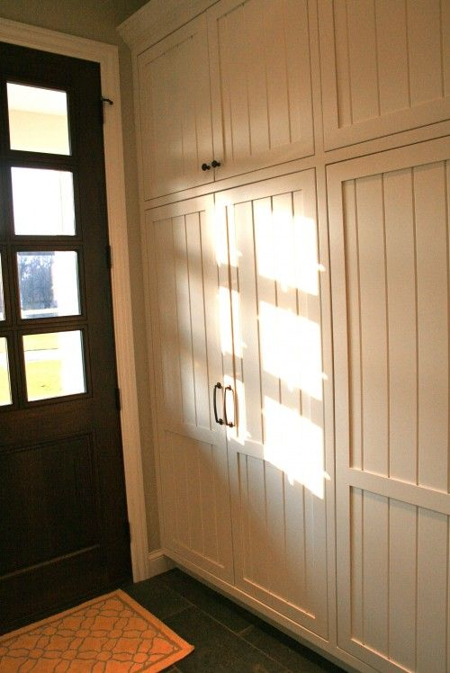 Lockers with doors love this idea of hiding the coats and for Entryway lockers with doors