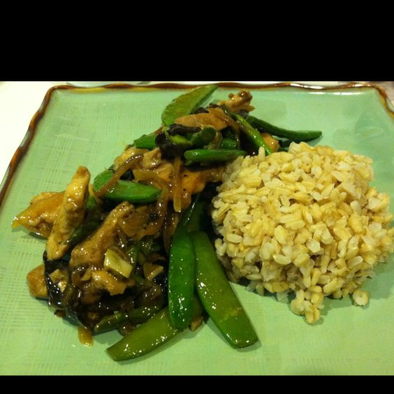 Black Pepper Chicken with Sugar Snap Pea, Woodear Mushrooms, and Asparagus