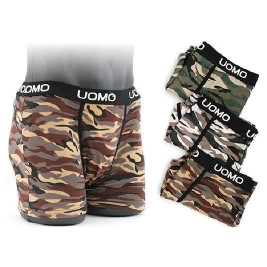 3x Men S Designer Camouflage Boxer Shorts Trunk Cotton M Xl
