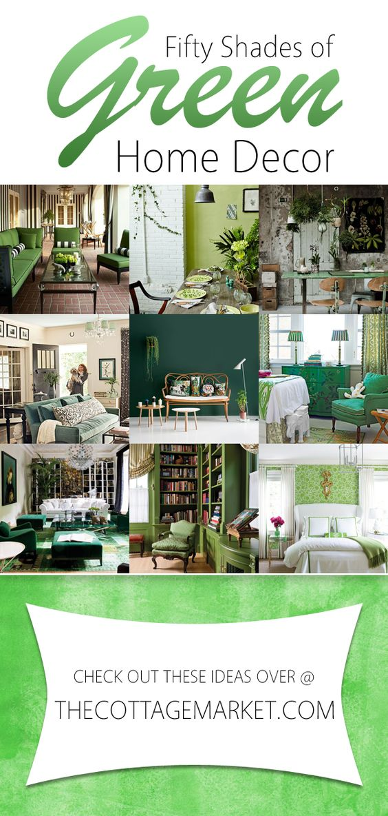 Beautiful the cottage and las vegas on pinterest for Green decorations for home
