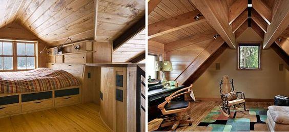 sótão madeira