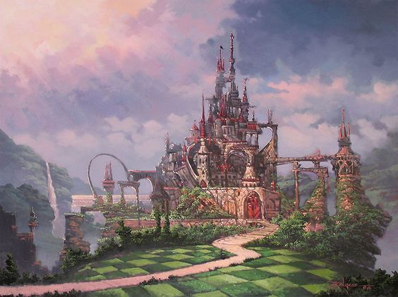 Palace Of Hearts Disney Alice In Wonderland Art
