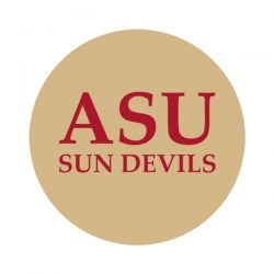 """Arizona State University 1-1/2"""" Round Labels - Free Shipping. Use these semi-gloss circle labels to seal envelopes or as an eye catching touch to demonstration your school pride."""