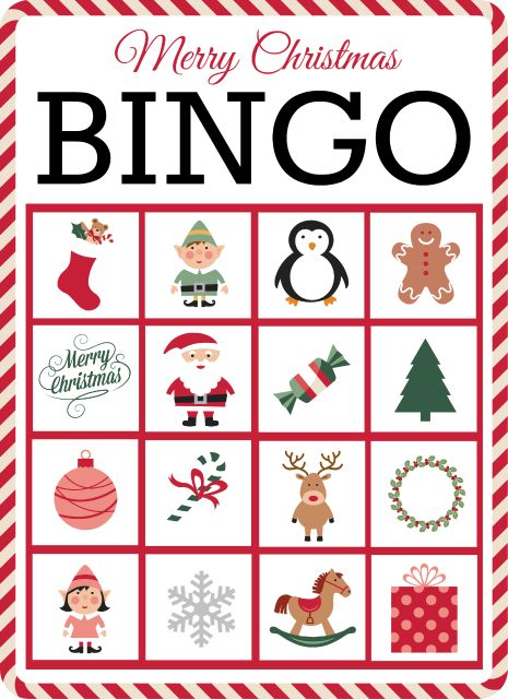 Christmas bingo, Bingo and Free printable cards on Pinterest