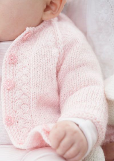 Knitting Patterns For Babies To Download : Download Free Pattern Details - Beehive Baby Sport - Top Down Vintage Cardiga...